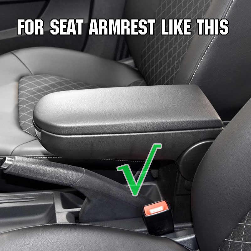 Защелка подлокотника для сиденья Ibiza 6J центральной консоли подлокотник коробка для хранения крышка автомобилей Pad