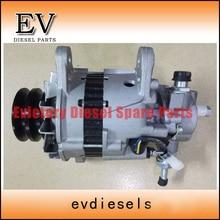 For Mitsubishi engine 6D14 6D14T 6D16 6D16T alternator/generator with a vacuum pump