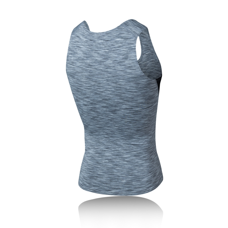 Men Spots Sleeveless Vest Mens Elastic Compression Quick Dry Breathable Training Gym Tank Tops