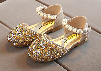 girls sequin shoes princess gold pink silver kids summer nina sapatos glitter holiday shoes wedding birthday party formal 2019