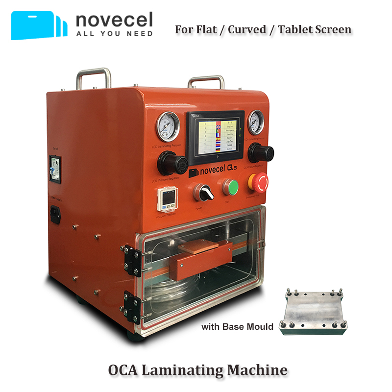 Novecel Q5 Laminating Machine Portable OCA Vacuum Laminator For Less Than 11 Flat Screen , Curved Screen , TabletsNovecel Q5 Laminating Machine Portable OCA Vacuum Laminator For Less Than 11 Flat Screen , Curved Screen , Tablets