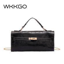 WKKGO Brand Fashion Women Handbag Flap Chains Top-handle