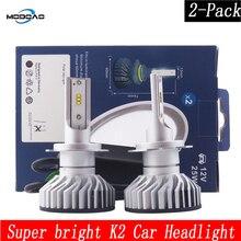 38w DC 9-32V Car Lights LED K2 Vehicle Headlights 2COB Bulbs 880/881 H1 H3 H4 H8/H9/H11 9005 9006 9012 6000k lights