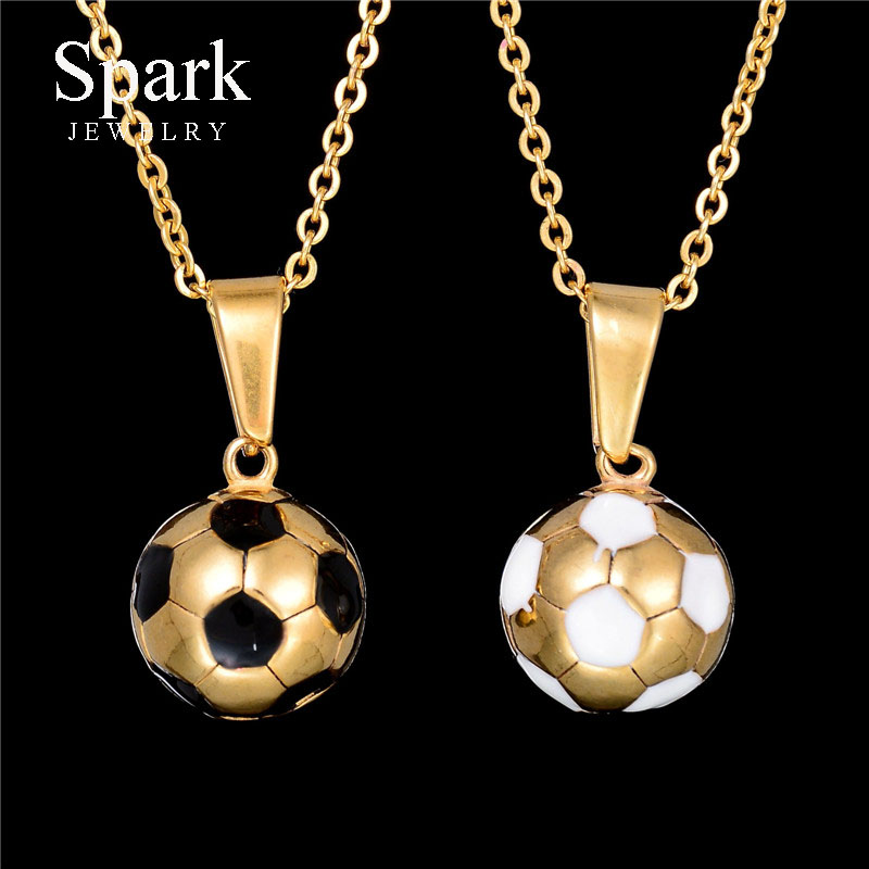 Spark jewelry new hot enamel jewelry stainless steel soccer spark jewelry new hot enamel jewelry stainless steel soccer necklace gold color football pendants necklaces in pendant necklaces from jewelry accessories mozeypictures Image collections