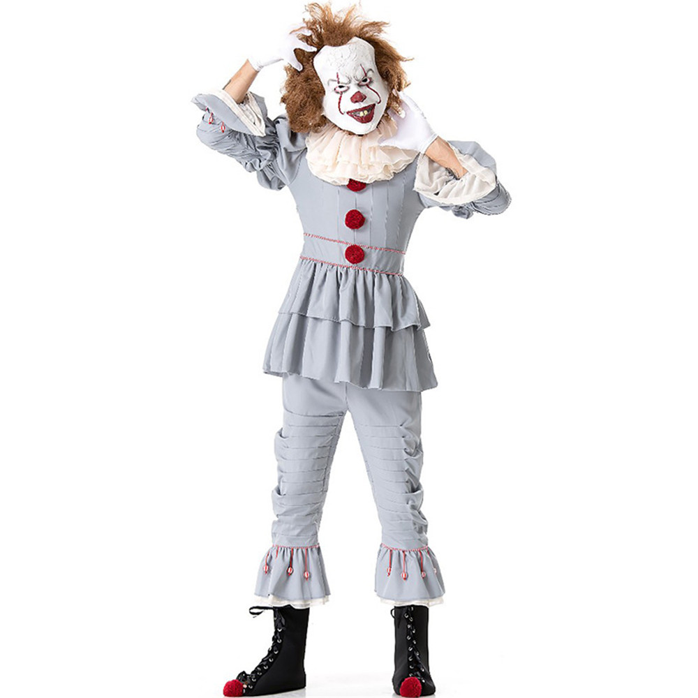 Stephen King's It Pennywise Cosplay Costume Adult Unisex Women costume Halloween Terror Clown costume Without The Shoes And mask