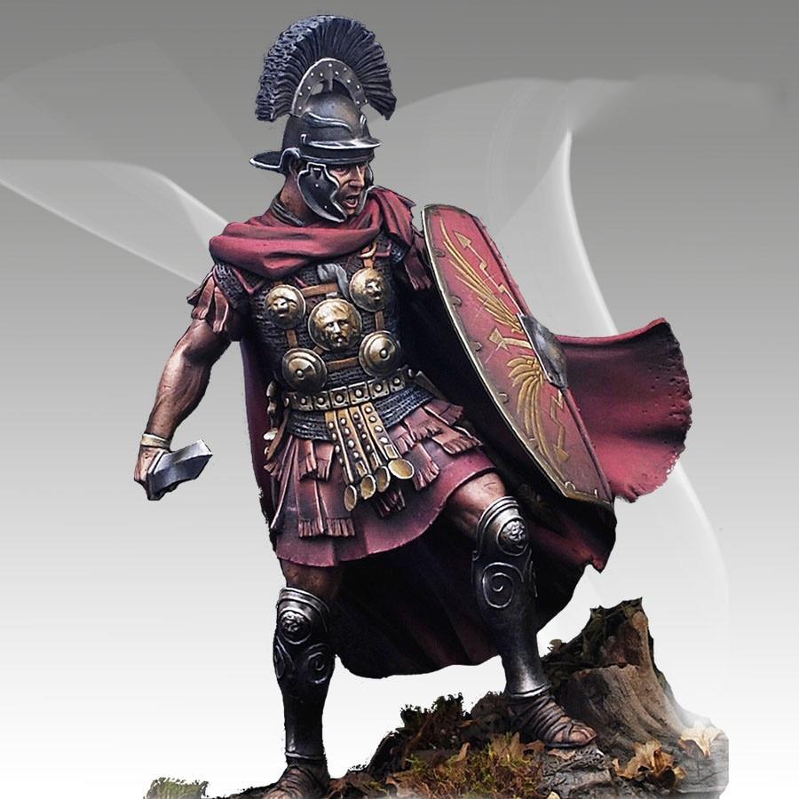 Unpainted Kit 1 28 80mm Ancient Roman Centurion Figure