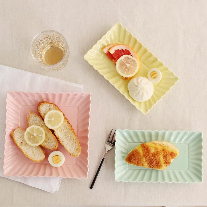 Shell Series Rectangle Dishes Amp Plates Ceramic Baking Pan