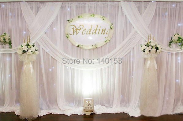 Factory Price! White ORGANZA For Background Of Wedding