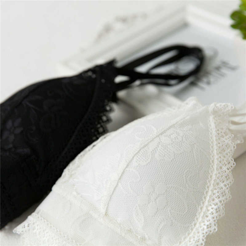 אחת גודל גופייה נשים סקסי הלבשה תחתונה פרחים קצוץ חולצות תחתוני חליפת מחוך תחרה לדחוף את חולצה יבול למעלה נקבת אפוד