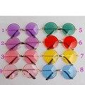 Atacado 8 pçs/lote Tamanho Grande Estilo Japonês Harajuku Colorido Lente Rodada Óculos De Sol Rua Fotografia Adereços Cosplay Óculos de Sol