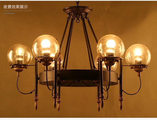 6 teste fagiolo magico led lampadario soggiorno sala da pranzo in