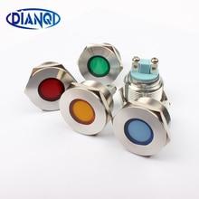 Светодиодный металлический индикатор 22 мм круглые на плоской подошве сигнальная лампа свет 3 В 6 В 12 В 24 В 220 В винт подключения цвет красный, желтый синий белый 22zsd. PY. l