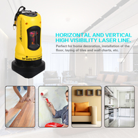Household 2 Lines Cross Laser Level Device 360 Rotary Cross Line Leveling Alarm Outdoor Receiver Vertical & Horizontal