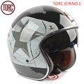 Envío libre torc capacetes casco racing 2016 nueva marca vintage scooter jet cascos casco de la motocicleta