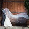 New 2016 Cut Edge 2T Wedding Veil Factory Wholesale Price White Ivory 3 Yards Length Elegant Two Layers Bridal Veils 2017