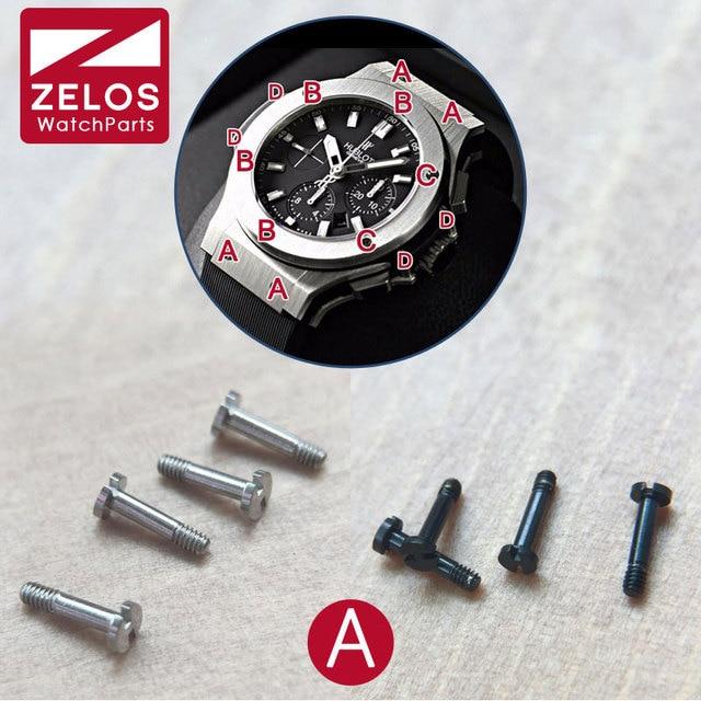 4pcs/set H-shaped hub Screw For hub bigbang watch band/strap/case lug/belt H screw,Maintenance watch fittings(A position)