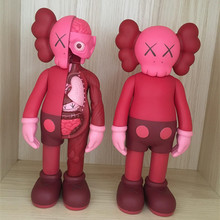 Chinese Red Originalfake KAWS Dissected Companion Action Figure Kids Toys Original Fake Anatomy Version Office Decoration 8 Inch