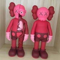 Chinese Red Originalfake KAWS Dissected Companion Action Figure Kids Toys Original Fake Anatomy Version Office Decoration