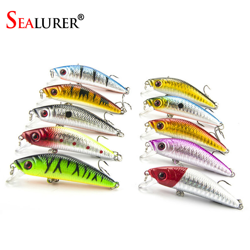 US $10 4 |super price Lure fishing tackle lure bionic bait lure fishing  lure minnow crankbait trout tackle 10pcs 7cm 8 8g free shipping-in Fishing