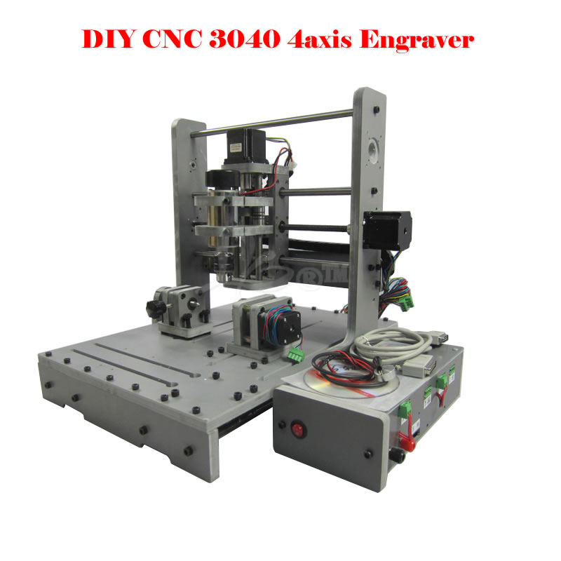 ERU FREE TAX CNC router Mini engraving machine DIY CNC 3040 4axis wood Router PCB Drilling and Milling Machine free tax desktop cnc wood router 3040 engraving drilling and milling machine