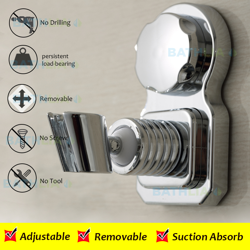 Movable Bathroom Shower Head Holder Make Of Eco Friendly ABS Material With Heavy Duty Air Vacuum Suction Cup For Bathroom  heavy bullet head bobbin holder with ceramic tube tip protecting lines brass copper material