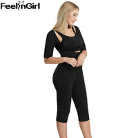 FeelinGirl Neoprene Jumpsuit High Waist Butt Lifter Body Shaper Sexy Waist Trainer and Tummy Hip Control Bum Lifter Shapewear C