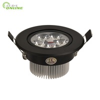 9w 12w 15w Black Body Downlights Led Dimmable 110v 220v Nature Warm Pure White