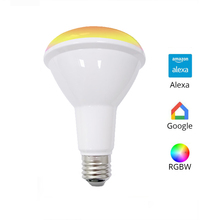 Colorido BR30 Wi-fi RGBW CONDUZIU A Luz Trabalho com Alexa Echo Google Assistência Domiciliar IFTTT Apoio APP Controle Temporizador de Voz E27 lâmpada