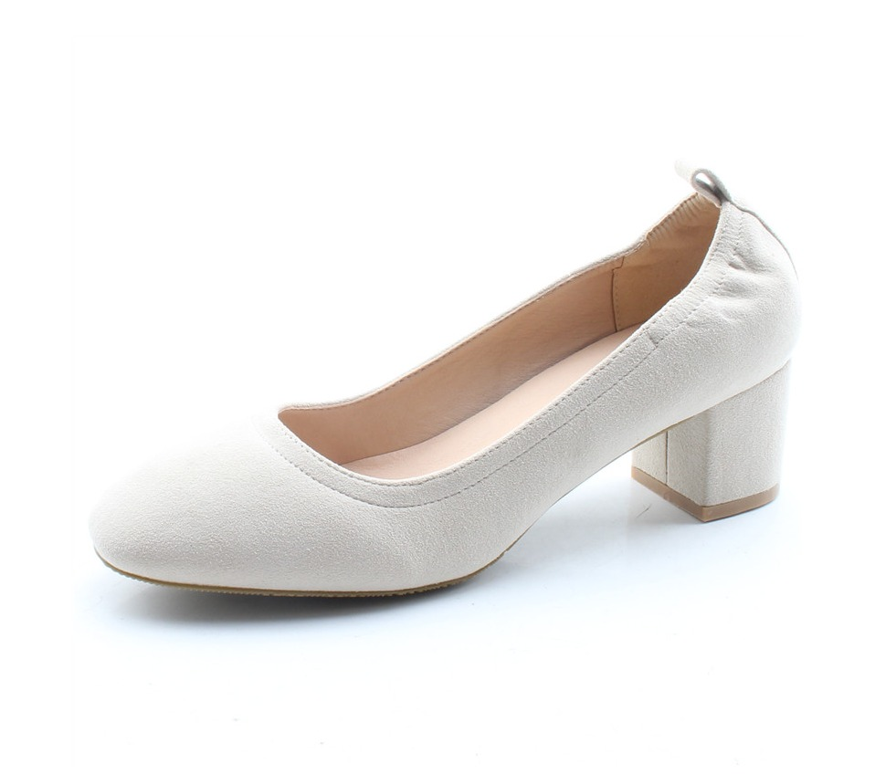 Shoes Women Genuine Leather Fashion Office and Career Rounded Toe 2-inch Block Heel Fashion Office Lady Pumps Size 34-41, K-307 67