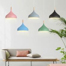 Nordic Loft LED Aluminum Pendant Lights Colorful Macaron Pendant Lamp Restaurant Living Dinning Room Cafe Bar Lighting Luminaire цены