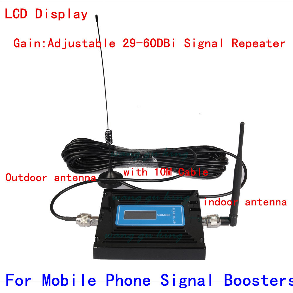 LCD display 60dB Gain GSM 900 cell phone signal booster 900MHz mobile phone repeater amplifier for Russia Brazil Canada UkraineLCD display 60dB Gain GSM 900 cell phone signal booster 900MHz mobile phone repeater amplifier for Russia Brazil Canada Ukraine