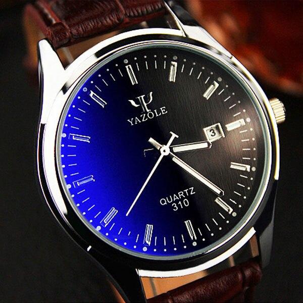 YAZOLE Quarzuhr Männer Uhren 2017 Top-marke Luxus Berühmten Männlichen Uhr Leder Armbanduhr Datum Quarz-uhr Relogio Masculino