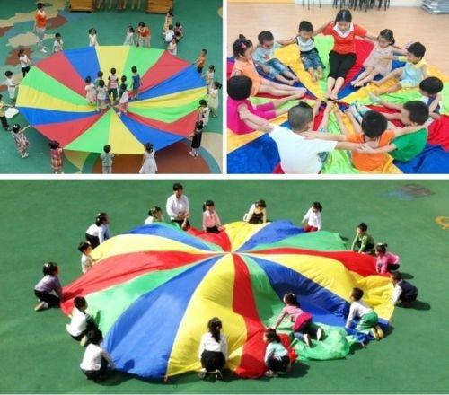 2m Kids Children Play Rainbow Parachute Outdoor Game Exerclse Sport