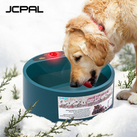 JCPAL Pet Supplies Heating Bowl Cat And Dog Hanging Food Plate Automatic Thermostat Heat preservation Water Stainless Steel Bowl