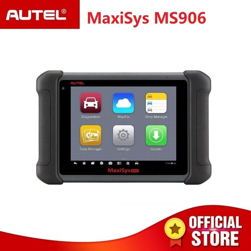 Autel MaxiSys MS906 OBD2 автомобильный диагностический сканер MS 906 программирование ключей код читателя OEM инструменты ключ кодирования PK DS808