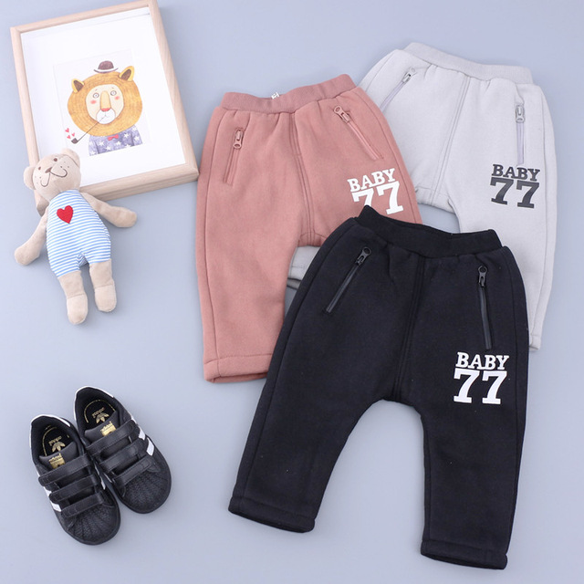 A qualidade superior do algodão do bebê meninos meninas harem pants calças crianças dos miúdos calças roupas meninos meninas crianças inverno quente calças de veludo casuais