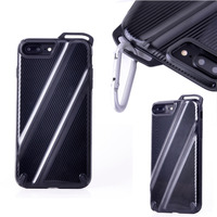 2017 Super High Quality Outdoor Sports Glossy Carbon Fiber Pattern Case For IPhone 7 Plus With