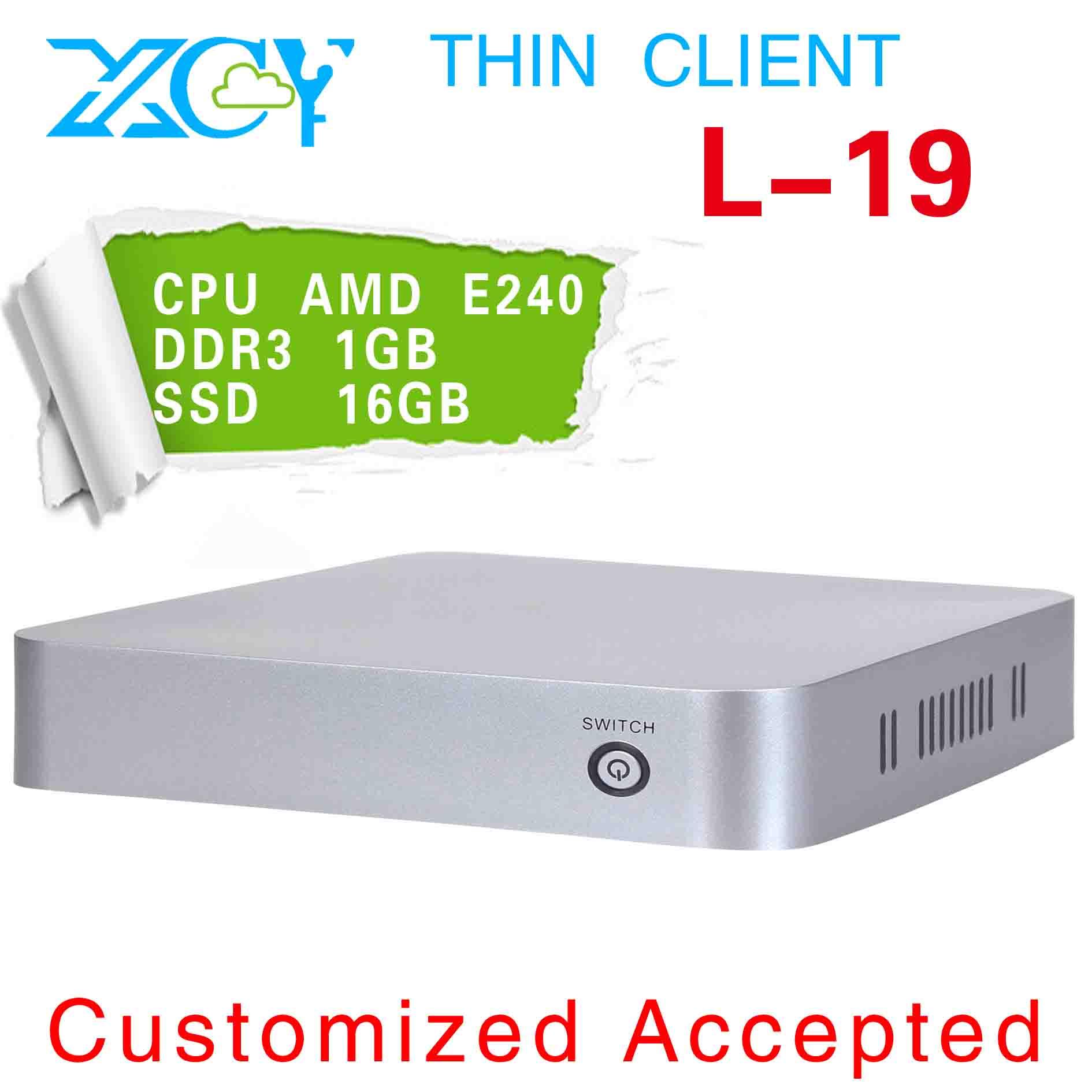 XCY L 19 mini linux computers mini htpc slim pc case ATI