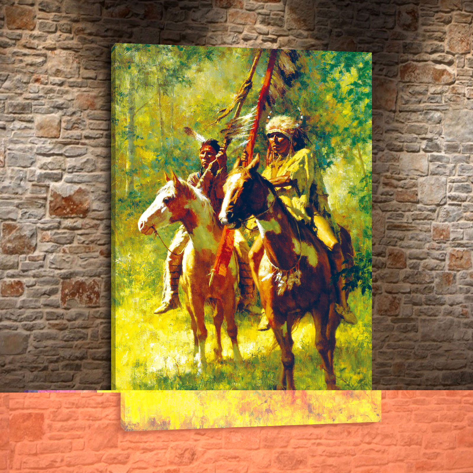Howard Terpning Indians Daily And Portrait Canvas HD Print Living Room Bedroom Home Wall Art