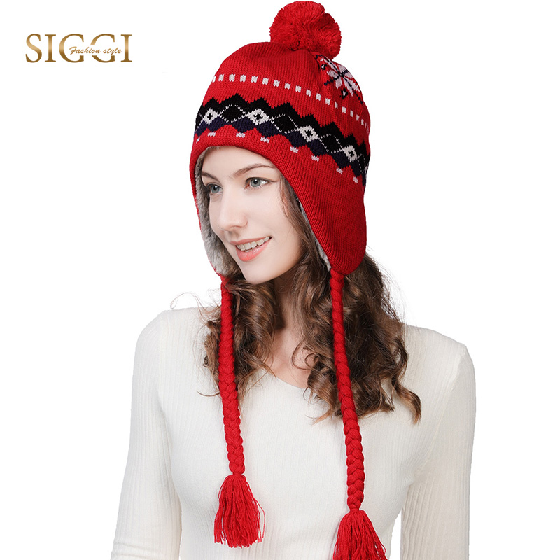 FANCET Winter Women Wool Beanies Skullies Femme Ear Flap Warm Pompom Hats  For Girls Bonnet Autumn Caps Gorros Cute Fashion 16204-in Skullies   Beanies  from ... 1f71d175bfa4