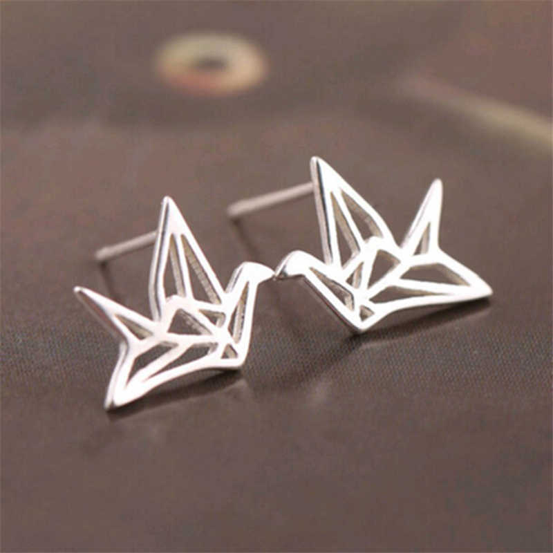 100% 925 Sterling Silver Hypoallergenic Stud Earrings For Women Wedding Gift Fashion Lady Sterling-silver-jewelry