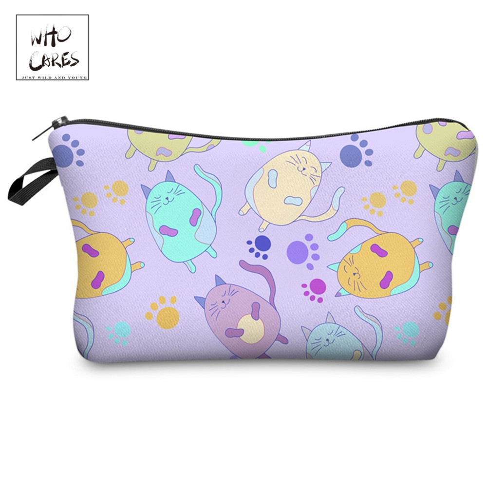 Who Cares Cute Cartoon Printing Fashion Cosmetic Organizer Bag Makeup Bags Cosmetics Pouches Ladies Pouch Women Cosmetic Bag