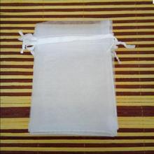 11size 100pcs/ 30x40 cm White Fabrics Organza Gift Bags Jewe