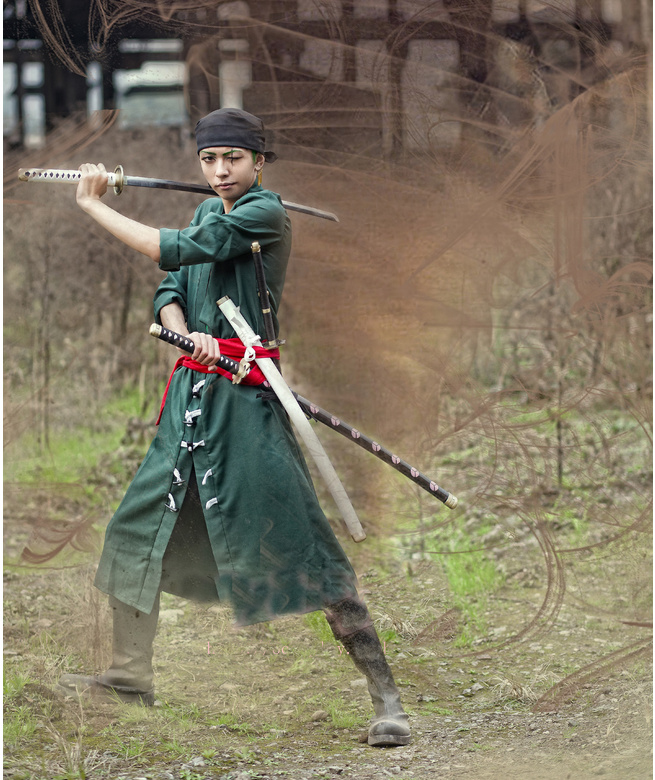Image 3 - One Piece Roronoa Zoro Cosplay Costume Clothes Full Set Custom Made-in Anime Costumes from Novelty & Special Use
