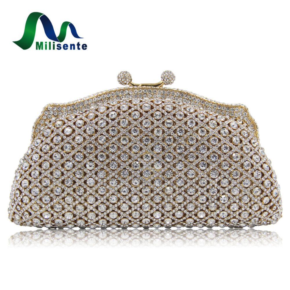 New Women Luxury Diamond Shoulder Eveningbags Handbag Crystal Clutches Evening Bags Party Wedding Purse Red Chain Crossbody as16 9 rose top fashion luxury diamond african handbag purse for party wedding