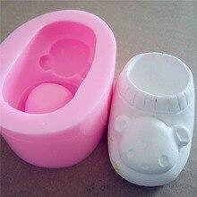 Great-Mold 3D Shoe Design Silicone Soap Mold Handmade DIY Silicone Mold