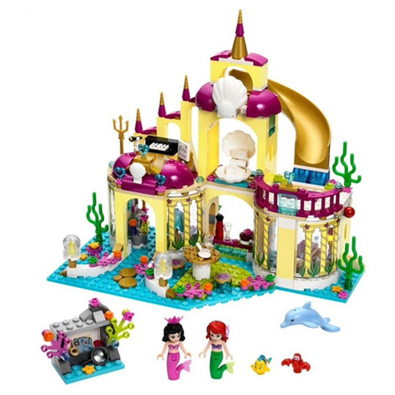 Princess Undersea Palace Girl Friends Building Blocks 402pcs Bricks Toy For Children Compatible With Sermoido Friends image