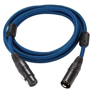 Image 3 - Cabo de extensão de alta fidelidade xlr para amplificador alto falante microfone regular 3 pinos xlr macho para fêmea equilibrada cabo trançado 1m 2m 3m 5m 8m