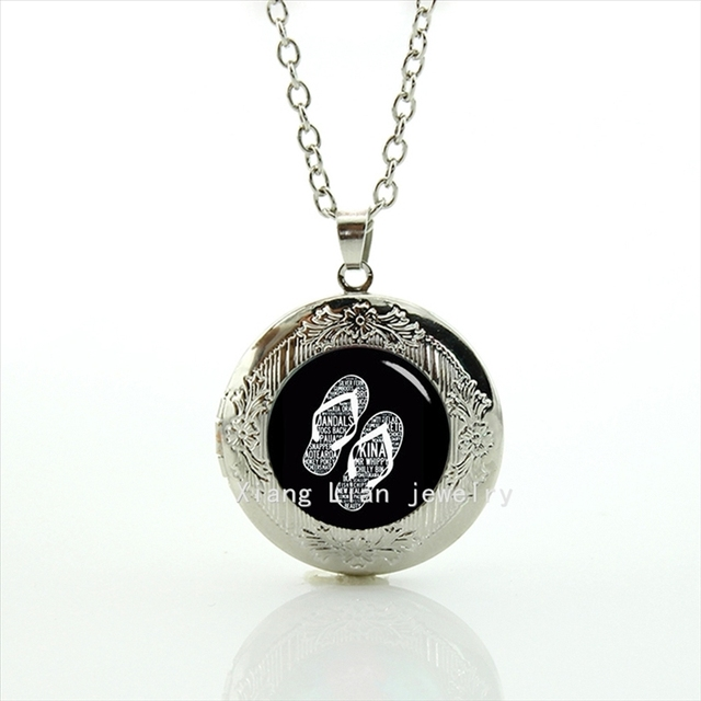 Collier new arrival friendship fashion locket necklace flip flops collier new arrival friendship fashion locket necklace flip flops letter slipper pendant house and living mozeypictures Image collections
