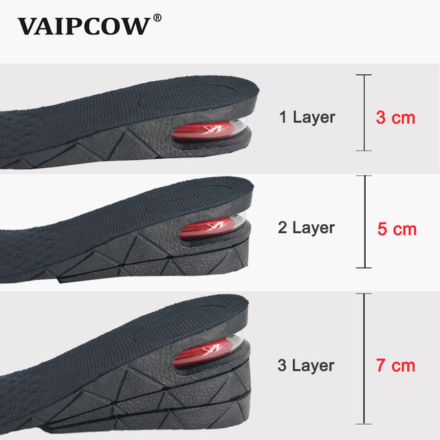 0abc2ccc18fc0 US $5.3 53% OFF|3 7cm Height Increase Insole Cushion Height Lift Adjustable  Cut Shoe Heel Insert Taller Support Absorbant Foot Pad-in Insoles from ...